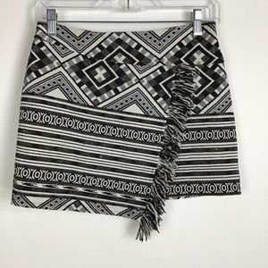 Topshop Mini Skirt with Fringe Size 4